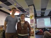 Me and Jacques, who helped advertise!